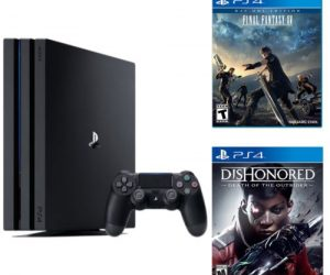 $349.99 (was $517.97) Playstation 4 Pro 1TB Console + Dishonored Death + Final Fantasy XV