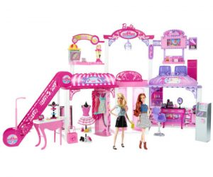 $49.99 (was $109.99) Barbie Malibu Ave 2-Story Mall with 2 Dolls – (50+ Pieces, 2′ Tall, 4′ Wide)