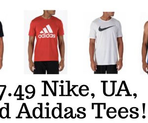 $7.49+ CRAZY Sale on Nike, UA, and Adidas Tees and Tanks
