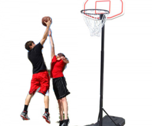 $49.99 (was $98.99) Adjustable Basketball Hoop System Stand Kid Indoor Outdoor Net Goal w/ Wheels