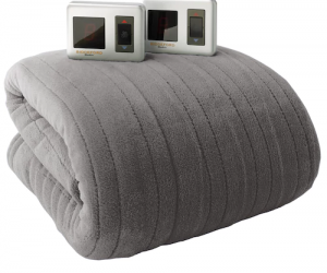 $69.99 (was $199.99) Biddeford Plush Heated Electric Blanket King And Get $10 Kohl's Cash!