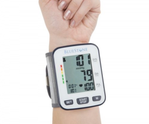 $14.99 (was $24.99) Bluestone Automatic One Touch Blood Pressure and Pulse Monitor