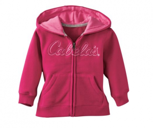 $4.88 (was $29.99) Cabela's Infants'/Toddlers' Hooded Sweatshirt Jacket