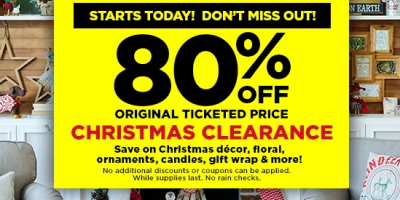 80% Off Christmas Clearance At Michaels