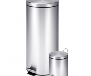 $39.99 (was $91.99) Honey Can Do Stainless Steel Step Trash Cans – Set of 2
