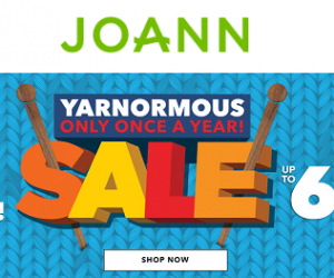 JoAnn Yarn Sale Up To 60% Off