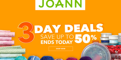 up to 50% OFF At JoAnn