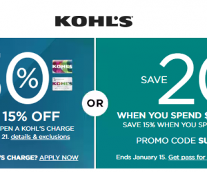 Kohl's Coupon Codes Up to 30% OFF And Some Are Stackable!