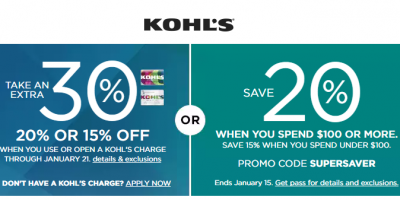 Kohl's Coupon Codes Up to 30% OFF ...