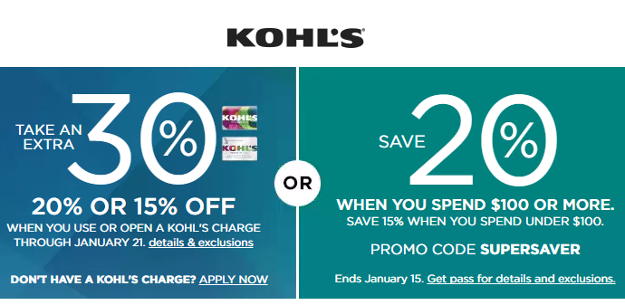 Oct 04,  · Kohl's Charge Card. The Kohl's Charge Card is a prominent card that you can use on various orders at Kohl's. With this, you can simplify the checkout process and get access to exclusive deals like the monthly Kohls 30% off Coupon Code that you read about earlier. This special deal is only good to those who have Kohl's Charge cards%().