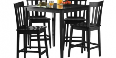$169 (was $199) Mainstays 5-Piece Counter-Height Dining Set- Multiple Colors