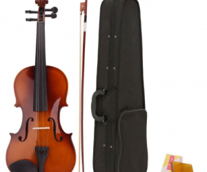 $29.99 (was $56.99) New Acoustic Violin 4/4 Full Size with Case and Bow Rosin Wood