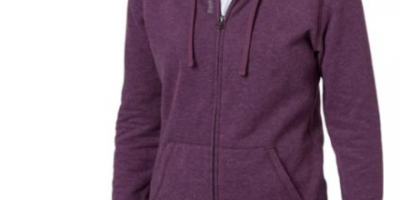 $19.99 (was $40) Reebok Women's Core Cotton Fleece Heather Zip Up Hoodie