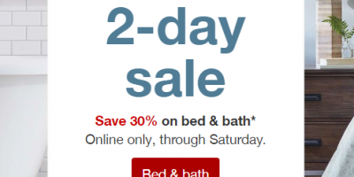 30% Off Bedding And Bath At Target