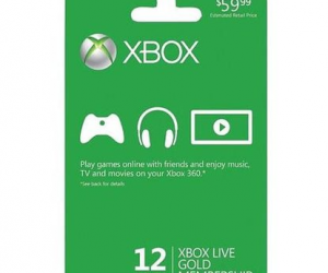 $41.99 (was $59.99) Xbox Live 12 Month Gold Membership