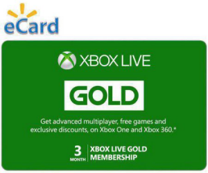 $24.99 (was $49.98) Xbox Live 3 Month Gold Membership Code plus Bonus Xbox Live 3 Month Gold Membership Code