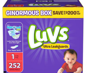 $19.98 (was $31.48) Luvs Ultra Leakguards Diapers 186+ count
