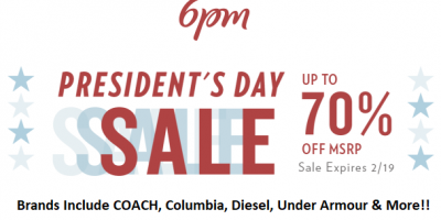 President's Day Sale Up To 70% OFF...