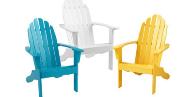 $49.99 (was $95.99) Cool Living Adirondack Painted Outdoor Wood Chair
