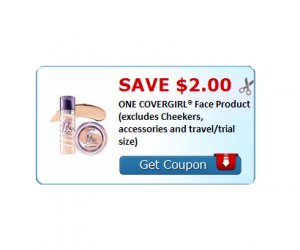 High Value CoverGirl Coupon $2 OFF