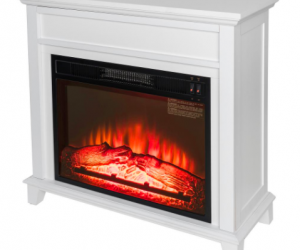 $99 (was $199) White Freestanding Electric Fireplace