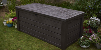 Price Drop On The Keter Westwood Plastic Deck Storage Container Box