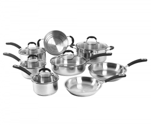 $68.98 (was $129.98) Oneida 13-pc. Stainless Steel Cookware Set