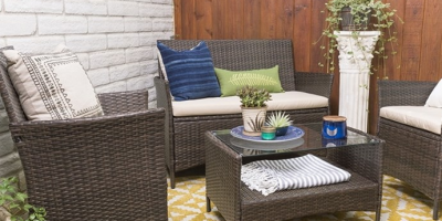 $199.99 (was $799.99) Patio Chat Set 4-P...