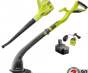 $69 (was $99) Ryobi ONE+ 18-Volt Lithium-Ion String Trimmer/Edger and Blower/Sweeper Combo Kit (Today Only)