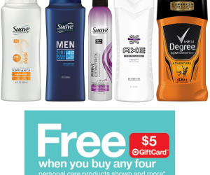 Get $5 Target Gift Card When You Buy 4 Personal Care Items