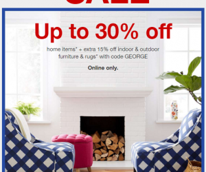 Target President's Day Sale – Up to 30% OFF + Extra 15% OFF With Coupon