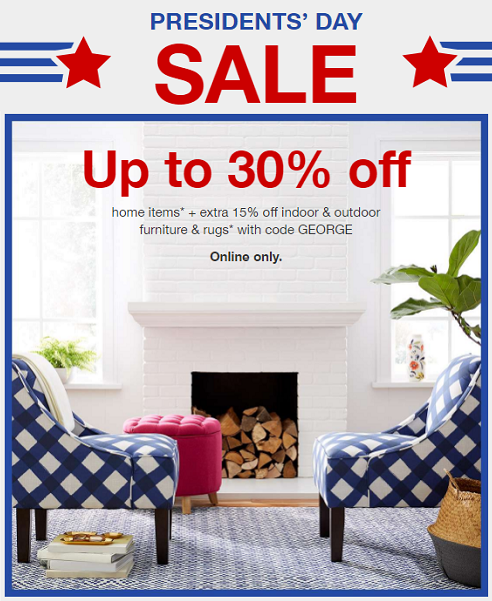 Furniture Sale Extra 15 Off At Target Com: Target President's Day Sale