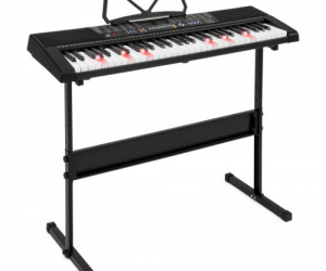 $69.99 (was $249.95) Teaching Electronic Keyboard Piano Set 61 Light Keys LED Screen Adjustable Stand