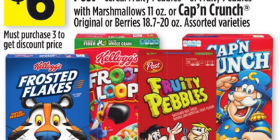 Get 6 Boxes of Kellogg's Cereal fo...