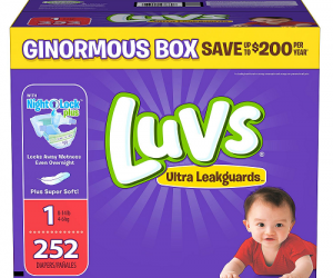 $19.98 (was $26.98) Luvs Ultra Leakguards Diapers 112ct – 252ct