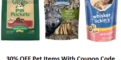 30% OFF Select Pet Items With Coupon Code