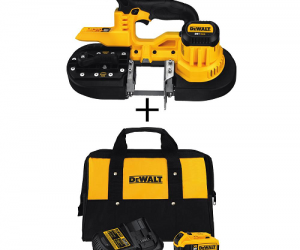 $199 (was $404.48) DEWALT Cordless Band Saw with Battery Starter Kit and Bag
