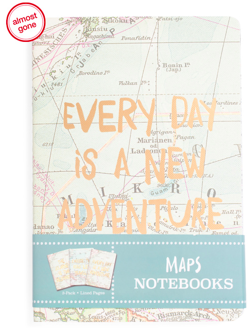 3 Pack Map Journals