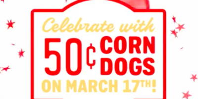 50¢ Corn Dogs at Sonic Today!