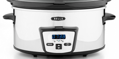 $10 (was $44.99) Bella 5 Qt. Programmable Polished Stainless Steel Slow Cooker