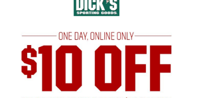 $10 OFF $50 Or More On Socks & Footwear At Dick's Sporting Goods (Today Only)