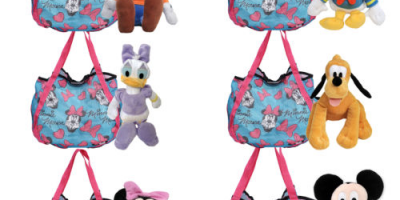 $12.99 (was $24.99) Disney Minnie Mouse Shopping Tote Bag & Plush Doll 11″
