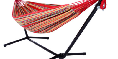 $49.99 (was $134.47) Double Hammock With Space Saving Steel Stand