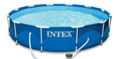 $79.99 (was $199.99) Intex 12′ x 30″ Metal Frame Set Above Ground Swimming Pool with Filter