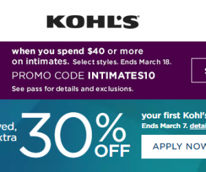 Kohl's 30% OFF Coupon Code & Deal Ideas