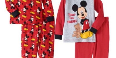 $5 (was $13.74) Mickey Mouse Baby Boys' Cotton Tight Fit Pajamas, 4-Piece Set
