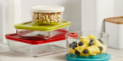 $9.99 (was $39.99) Pyrex 10-Piece Simply Store Set with Colored Lids