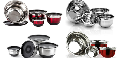 $13.99 (was $39.99) Stainless Steel German Mixing Bowls – Set of 4