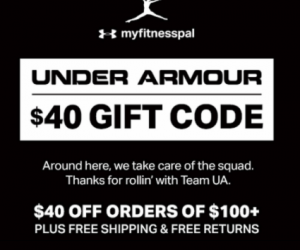 Possible $40 off of $100 Under Armour Coupon!