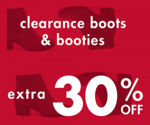 Extra 30% Off Clearance Boots And Booties